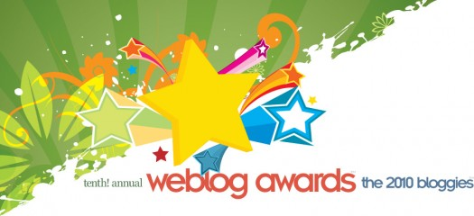 Nominated for 2010 bloggies....